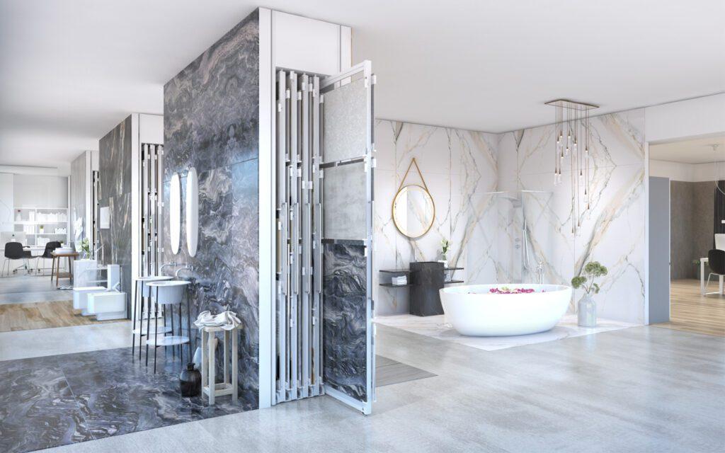 Mehrformatiges Display für Fliesen Londres Multi Tiles