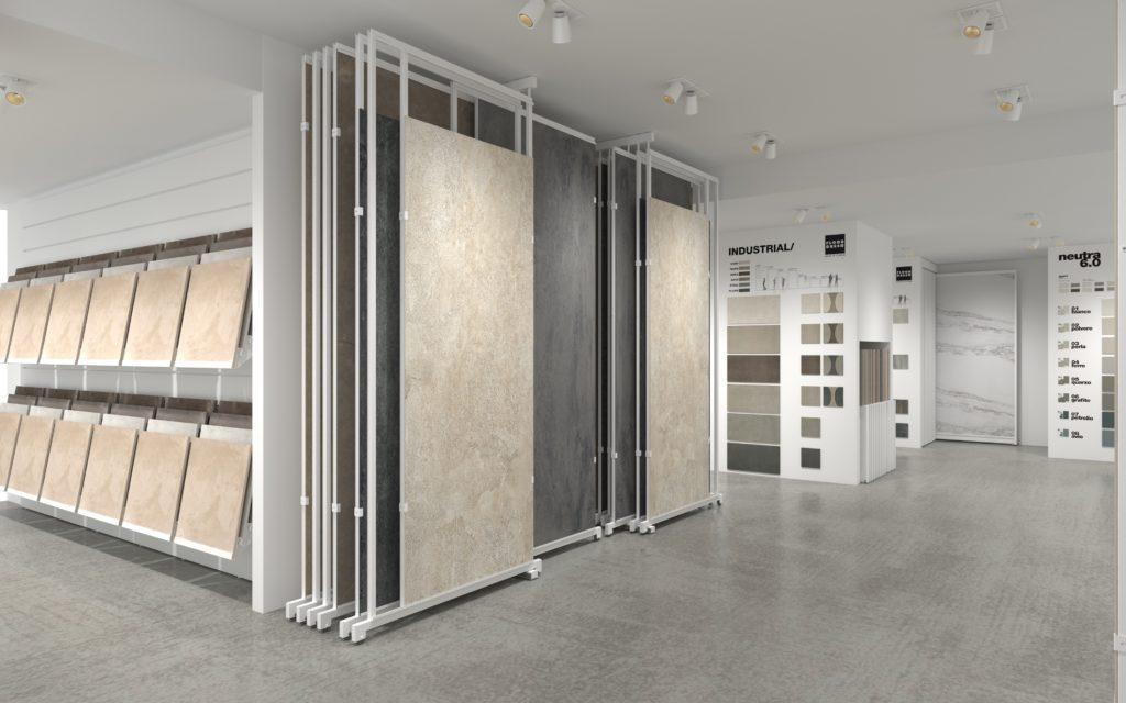 Large format tile display