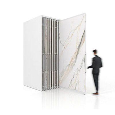 Expositor corredero para azulejos de gran formato Denver 2400/18 Blanco