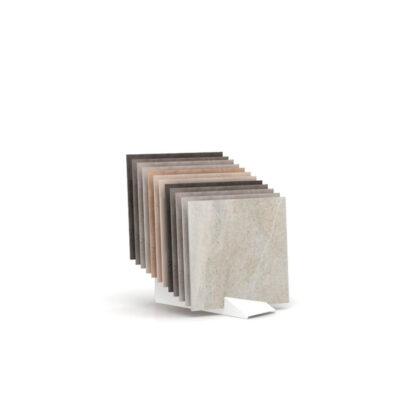 Expositor para azulejos de pequeño formato Tronchetto Ferro inclinado