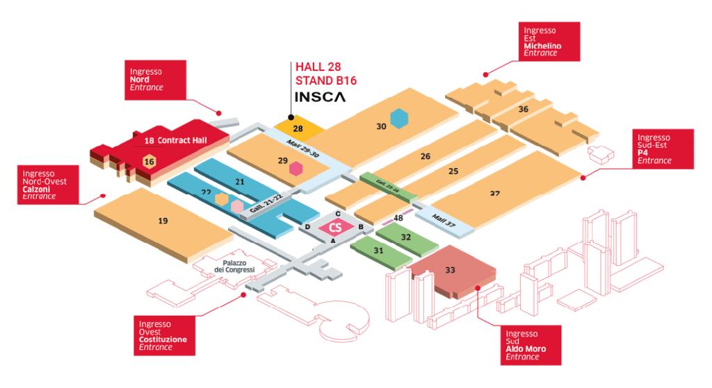 Plano de ubicación de INSCA en Cersaie